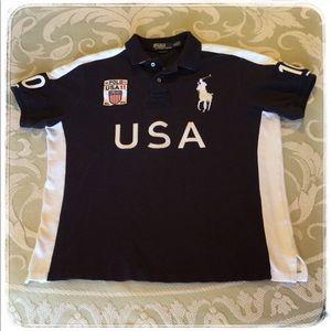 Ralph Lauren Custom Fit Winter Racing Polo Shirt.
